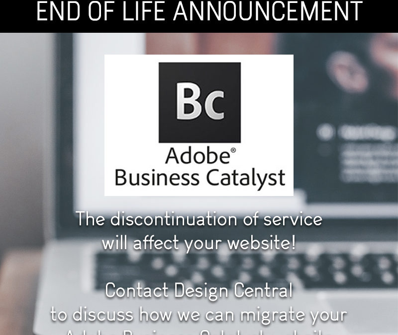 Adobe Business Catalyst end of life announcement - Design